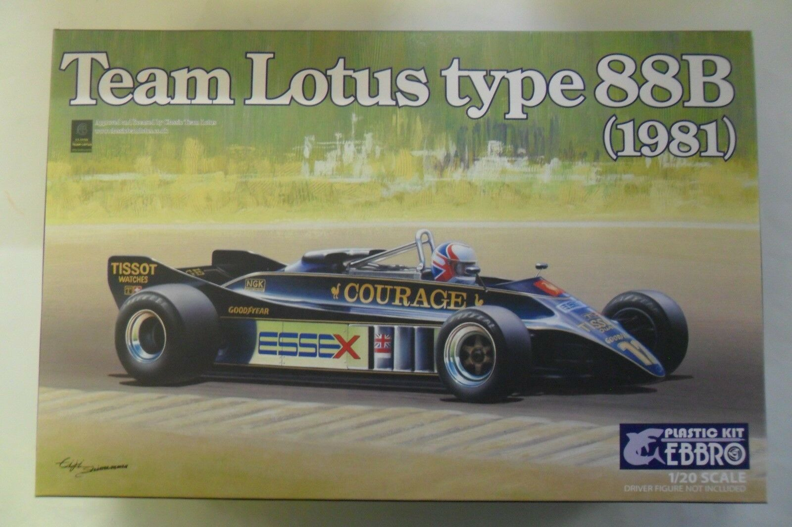 EBBRO 1 20 KIT DA COSTRUIRE IN PLASTICA TEAM LOTUS TYPE 88B 1981  ART 010 6800