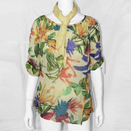 Femme tropical imprimé tops floral plage été femmes baggy chemisier 8-14