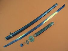 Japanese Japan WWII WW2 Katana Signed Officer's Sword & Scabbard