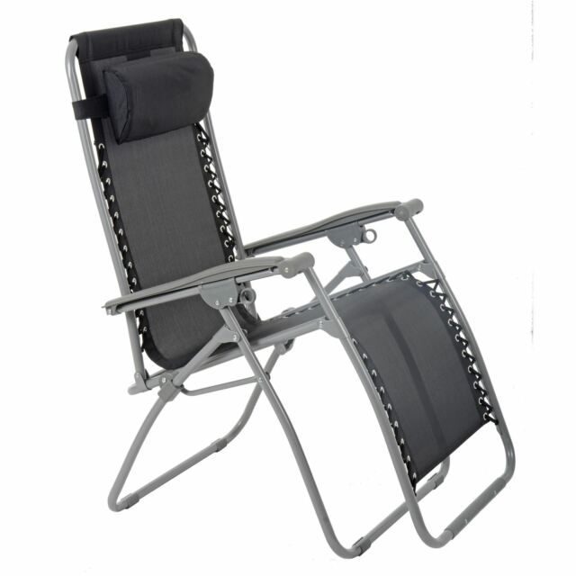 FOLDING GARDEN LOUNGER MULTI POSITION ZERO GRAVITY RECLINER RELAXER SEAT CHAIR