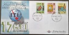 Brunei FDC World Telecommunication Day ITU 17.5.1996