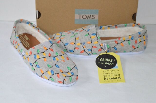074436efce9 New TOMS Classic Glow in the Dark Tree Lights Slip On Sold Out Rare ...