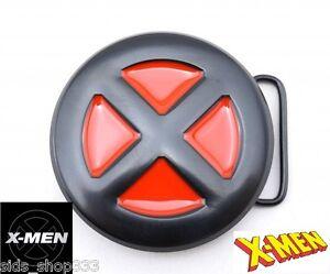 47df5e2b70d1 X-MEN logo blk red metal BUCKLE XMEN wolverine cosplay marvel comics ...