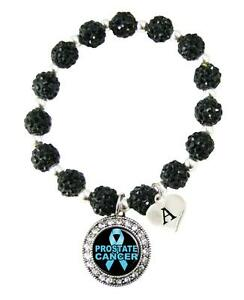 Custom-Prostate-Cancer-Awareness-Black-Bling-Bracelet-Jewelry-Choose-Initial