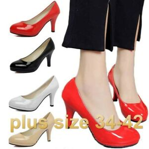 Plus-size-Women-039-s-High-Heel-Office-Shoes-Pointed-Toe-Business-Shoes-Sexy-Pumps