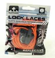 Nathan Lock Laces Shoe String No/never Tie Running Tri Jogging Reflective Orange