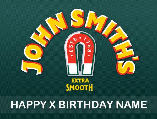 John Smiths Cake Topper Glaçage Personnalisé