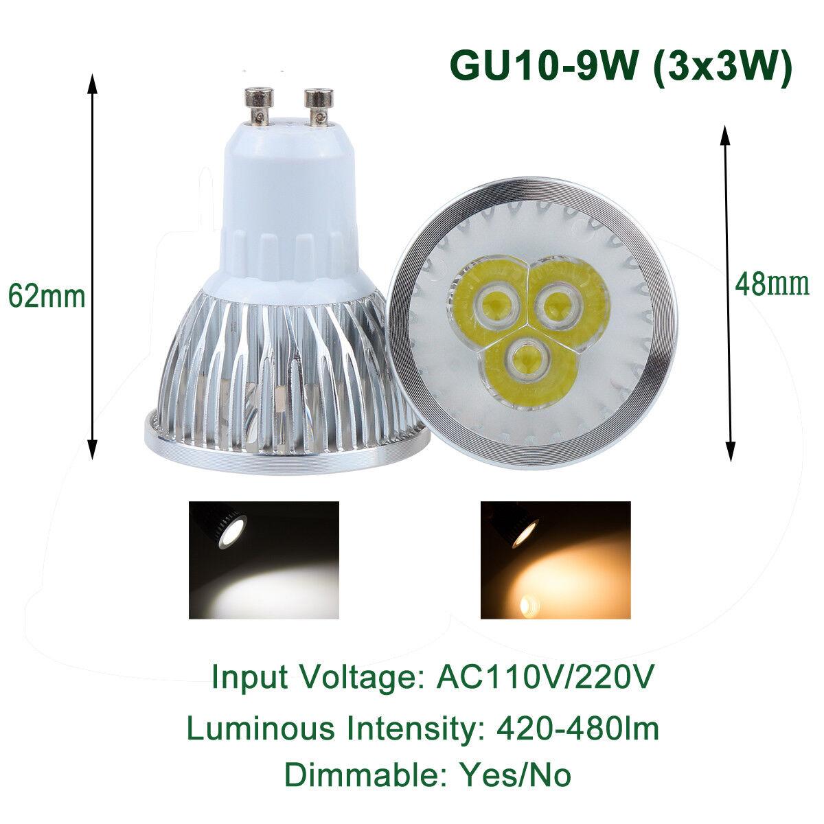 Dimmerabile GU10 LED Spot LAMPADA LAMPADINA LAMPADINA LAMPADINA 9W 12W 15W FARETTO DA INCASSO Luce 570f26