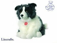Border Collie Sitting  Plush Soft Toy Dog by Teddy Hermann Collection 92771