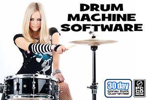 drum machine software for pc windows w guitar tools ebay. Black Bedroom Furniture Sets. Home Design Ideas
