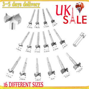 16pcs Forstner Drill Bit Set Kitchen Cupboard Door Hinge 15mm-35mm 663862925203