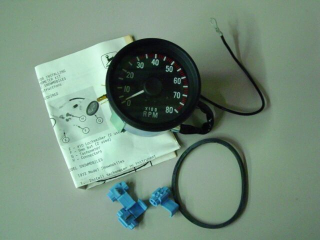 John Deere Snowmobile Tachometer - AM52346