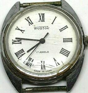 Ussr-Wostok-17-Jewels-Watch-Vintage-Vostok-Soviet-S-Men-Wrist-Rare-Mechanical