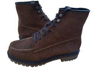 frye men's pine lug leather work boots