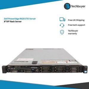 Dell PowerEdge R620 8*SFF Configurable 1U Rack Server 2x Xeon CPU 64GB RAM 2 HDD