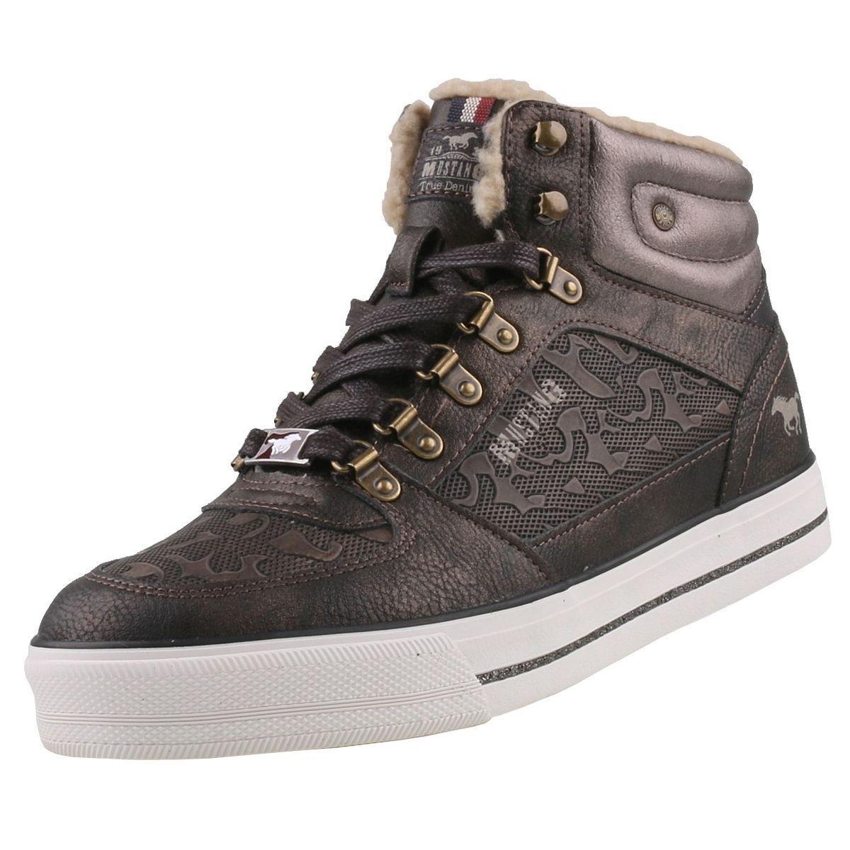 Nuevo zapatos  señora zapatos  HighTop Mustang zapatos  HighTop  cortos forradas botas botines 4812ac