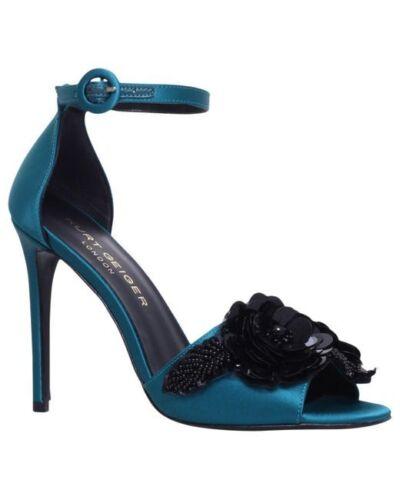 £229 Kurt Geiger London Slay Teal Embellished high heel sandals UK6 EU39