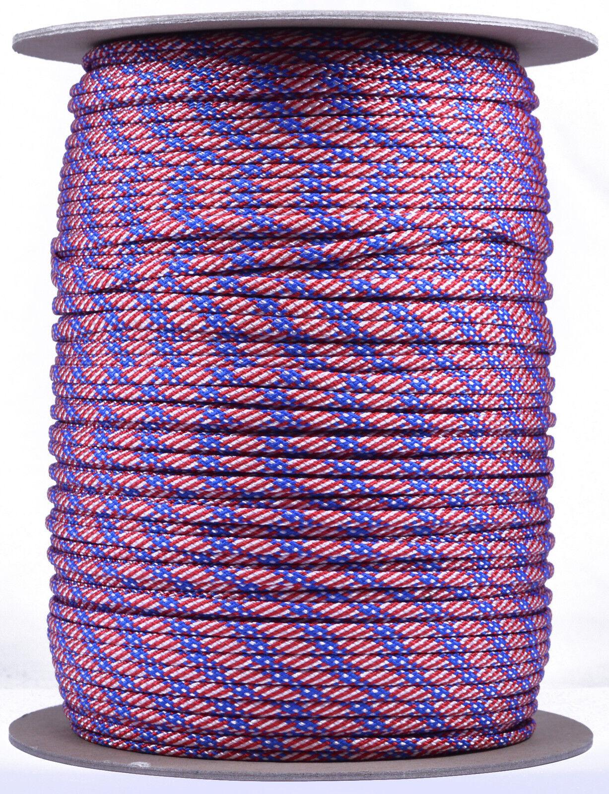 Stars & Stripes - 550 Paracord Rope 7 strand Parachute Cord - 1000 Foot Spool