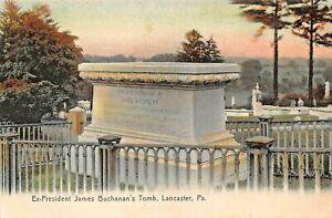 Lancaster-pa-Ex-President-James-BUCHANAN-039-S-Tomb-Panoramica-Tintado-Foto