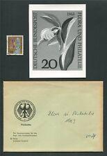 BUND FOTO-ESSAY 393 FLORA 1963 ORCHIDEEN ORCHIDS PHOTO-ESSAY PROOF RARE! e97