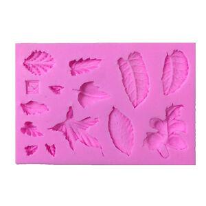 3D-Leaves-Vein-Silicone-Fondant-Moulds-Cake-Decor-Baking-Icing-Sugarcraft-Molds