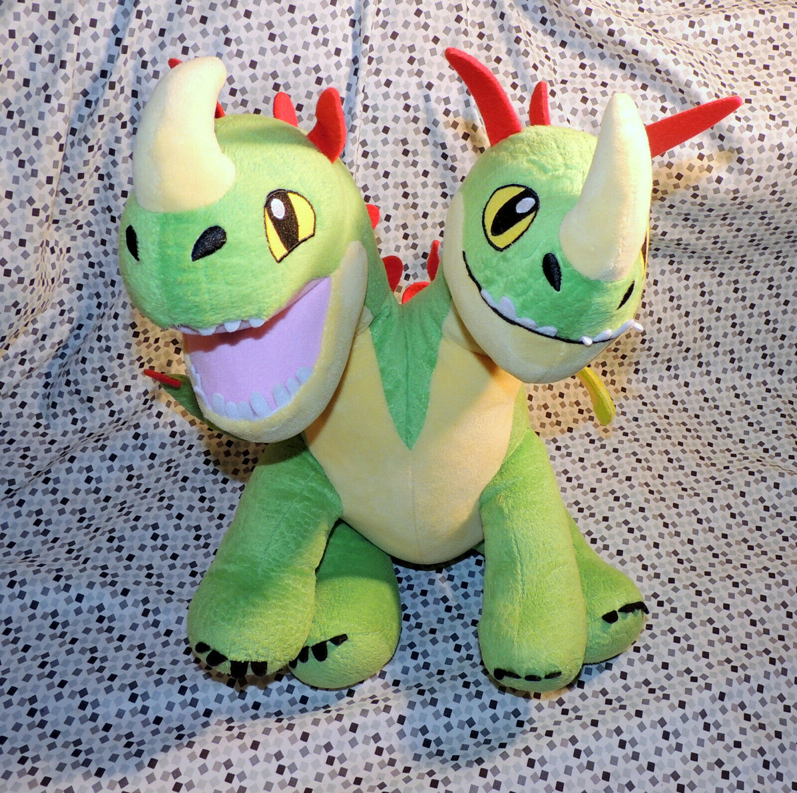 Build A Bear Dreamworks How To Train Your Dragon Barf & Belch Two Headed Plush