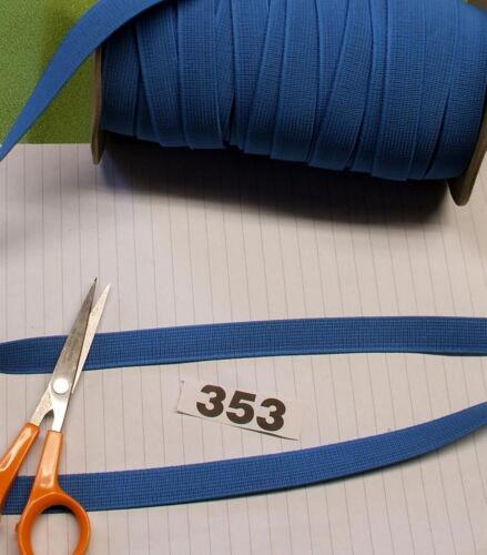 piatto nastro elastico nastro di merceria. 353 3m x 15mm Azzurro ELASTICO