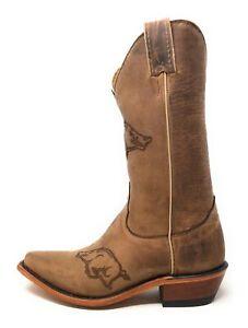 Nocona-Boots-Womens-Arkansas-Boot-Razorbacks-Brown-Size-5-5-M-US