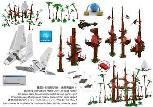 Lego Ewok Village 1 Star Wars Instructions Custom Base Endor