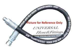 "1//4/"" x 24/"" 2-Wire Hydraulic Hose Assembly 2 Female JIC Swivel Fittings"
