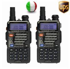 2×BaoFeng UV-5R Plus 136-174/400-520Mhz RICETRASMITTENTE DUAL BAND Vhf Uhf Radio