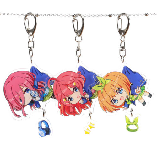 Anime The Quintessential Quintuplets Acrylic Keychain Pendant Keyring Cosplay