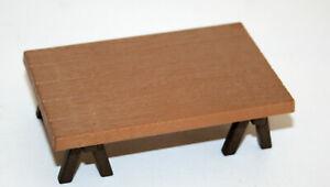 PLAYMOBIL-5344-VICTORIEN-TABLE-AVEC-TRETEAUX-MARRON-MARCHAND-D-039-ANIMAUX