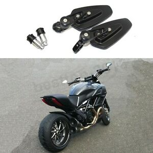 One-Pair-Black-Motorcycle-Handle-Bar-End-Side-Mirrors-Custom-For-Ducati-Diavel