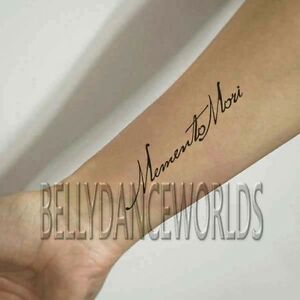 1 Set Of 3 Memento Mori Temporary Tattoo Quote Inner Forearm Body