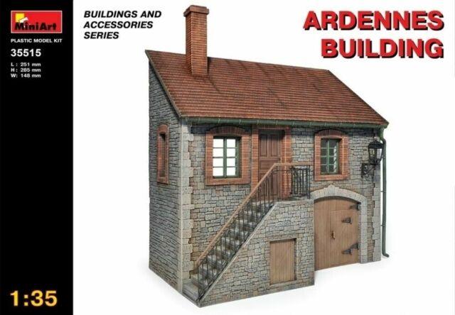 Miniart 1:35 scale model kit - Ardennes Building MIN35515