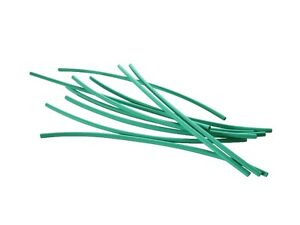2 Meter Schrumpfschlau<wbr/>ch grün 1,2 mm auf 0,6 mm ideal für dünne Litze + LEDs