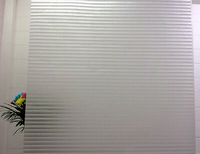 WHITE FADING STRIPES FROSTED PRIVACY WINDOW FILM - 90cm x 1m Roll S017