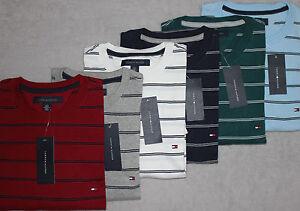 60d937ee13 New TOMMY HILFIGER Men's SS Crew Neck Striped T-Shirt S,M,L,XL,XXL ...