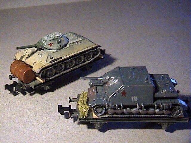 Panzerzug carro armato t-34 russo trasporto Stalingrado camo tarn Set