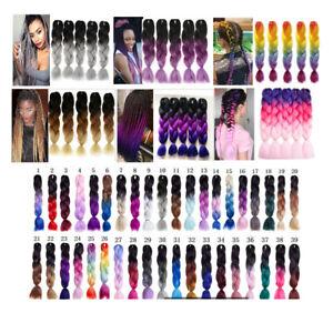 5packs-24-039-039-Jumbo-Braiding-Hair-Ombre-Kanekalon-African-Braids-100g-pc-67-Colors