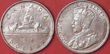 Almost Uncirculated 1936 Canada Silver 1 Dollar