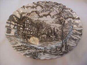 Vintage-Myott-Royal-Mail-Staffordshire-Brown-Oval-12-034-Platter