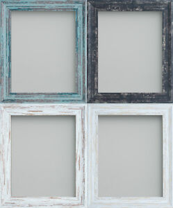 Image Is Loading Rustic Picture Photo Frames Coal Driftwood White