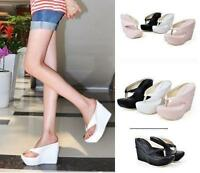 New Womens Summer Beach Sandals Platform Slides Wedge Heels Flip-Flops Shoes SZ