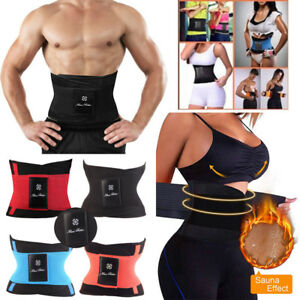 66a1408997c0a Men s Waist Trainer Trimmer Sport Belt Burn Fat Cincher Weight Loss ...