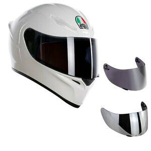 casco-moto-agv-k1-bianco-lucido-visiera-specchio-visiera-fume-039-trasparente