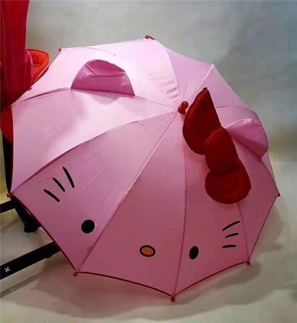 Hello Kitty Umbrella Kids Rain Cartoon Anime Girl New Lovely Winter Free Shippin