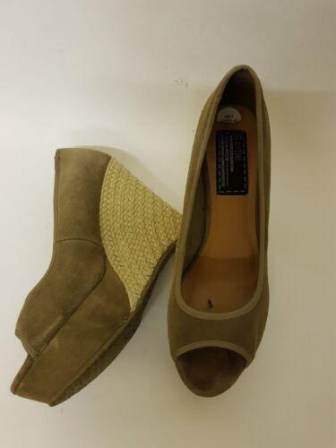 daim en Chaussures Compensées compensées enfiler Bertie Chaussures 7 à Taille tAqfwHf7p