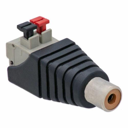 Cinch RCA-Buchse Adapter auf Terminal Block 2 Pin Druck Klemmen Kabel Verstärker